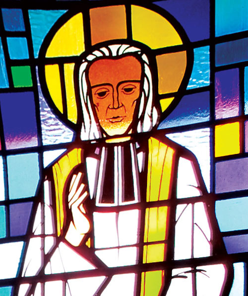 St John Vianney Blessing Stained Glass Window