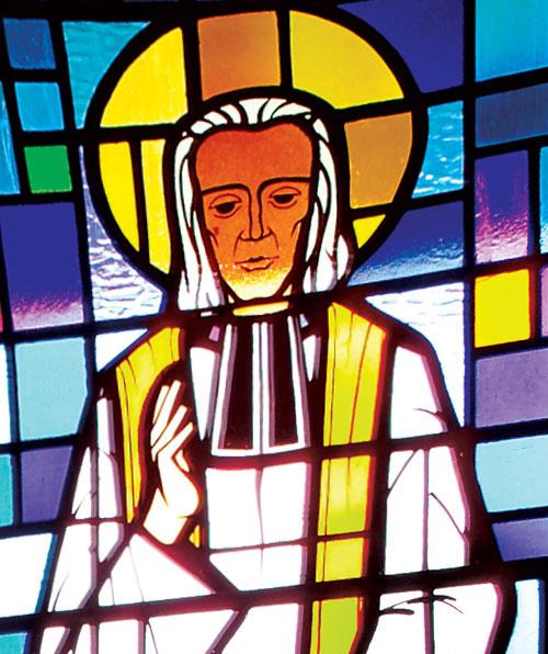 St John Vianney Blessing Stained Glass Window