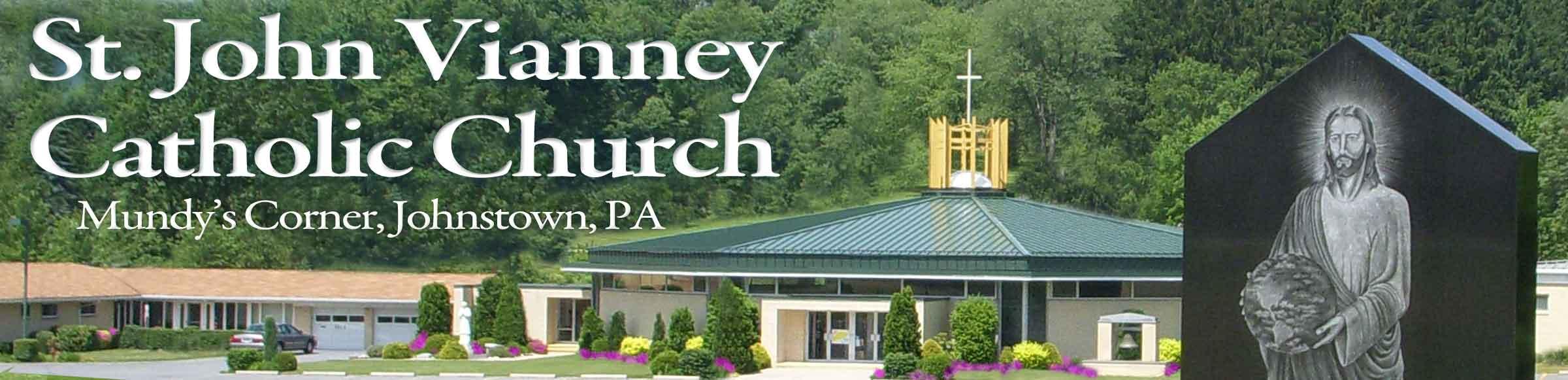 Saint John Vianney Catholic Church Retina Logo