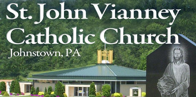Saint John Vianney Catholic Church Mobile Retina Logo