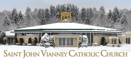 Saint John Vianney Catholic Church Logo