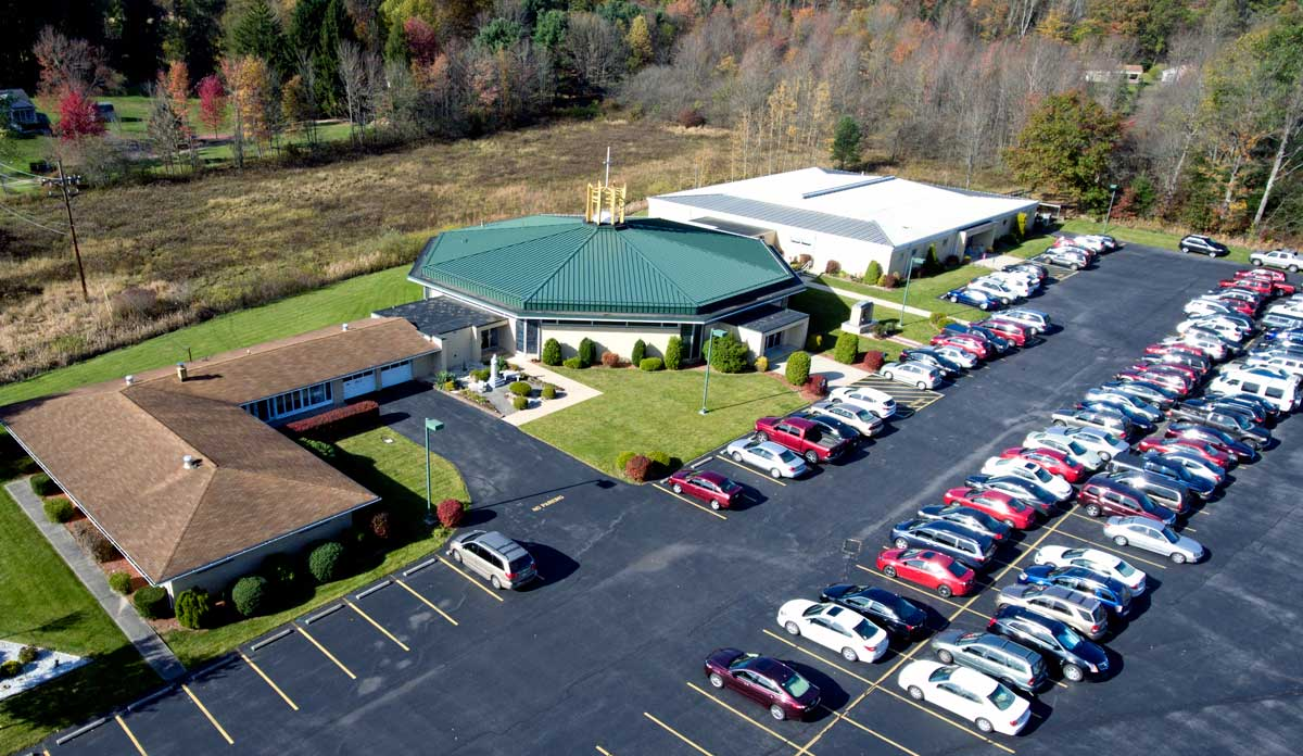 Aerial View 1-2018 of St John Vianney Parish Buildings