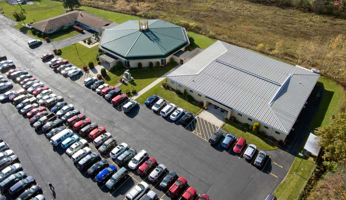 Aerial View 2018 of St John Vianney Parish Buildings